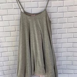 Romeo & Juliet Couture Gray Tank Pink Lining XS